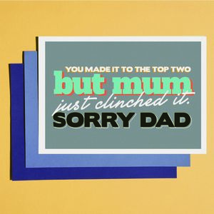 'Dad Clinched It' Father's Day Card