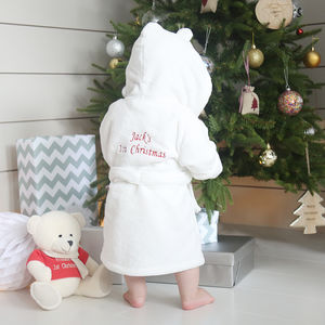1st Christmas Robe - baby's first christmas