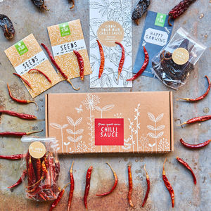 Grow Your Own Chilli Sauce Gift Kit - aspiring chef