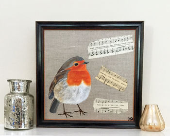Cute Robin Original Painting With Music