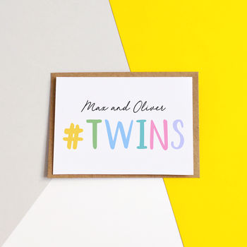 Personalised #Twins Card