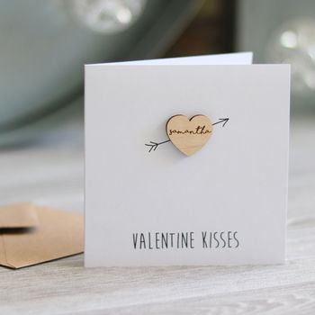 Personalised Valentines Heart Card