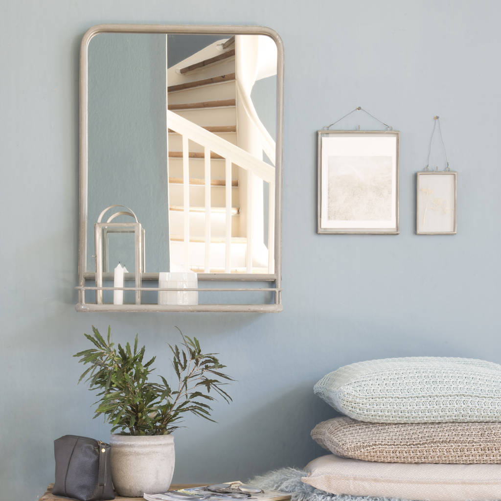 Wall mirror shelf images home wall decoration ideas large industrial mirror with shelf by the little house shop large zinc mirror amipublicfo images amipublicfo Image collections