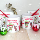 Personalised Childrens Christmas Elf Mug And Coaster