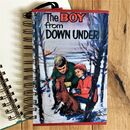 'The Boy From Down Under' Upcycled Notebook
