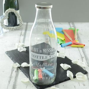 Personalised Wedding Message Bottle - table decorations