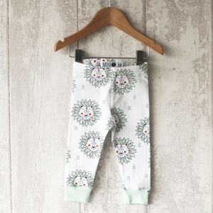 Mint Lion Baby Leggings