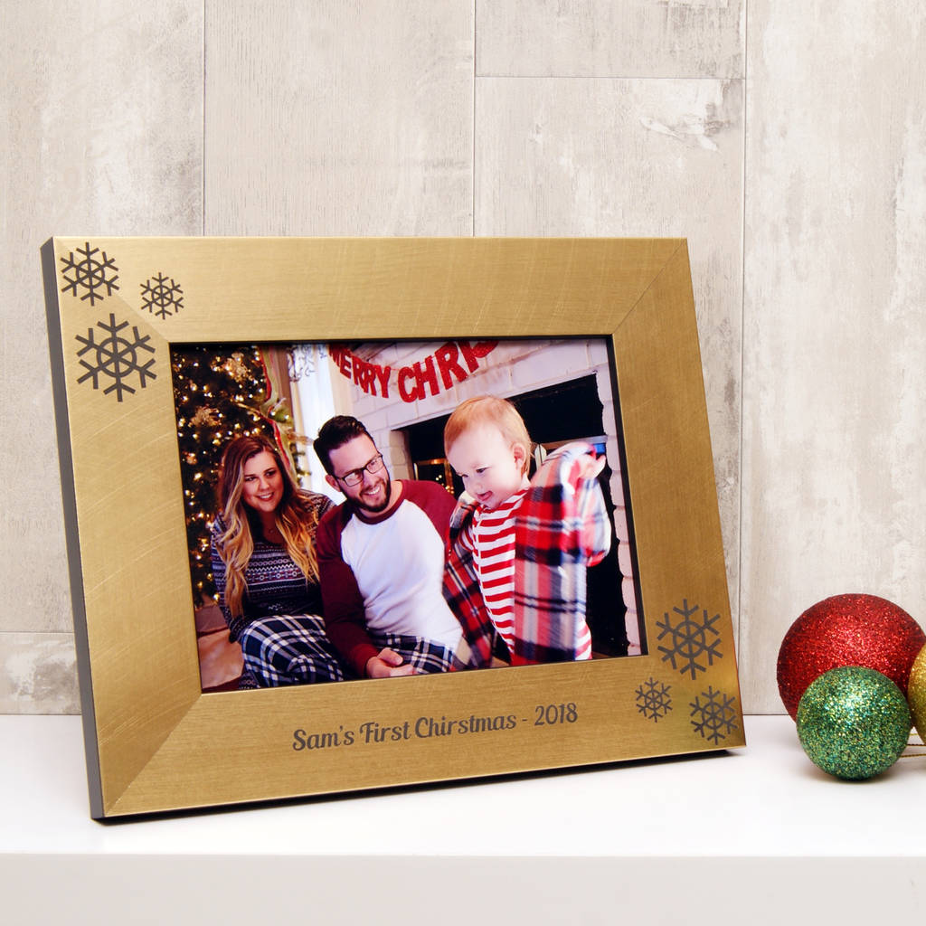 Personalised Babys First Christmas Photo Frame By Urban Twist
