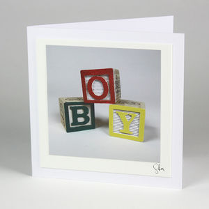 'Boy' Fine Art Photographic Greeting Card - cards sent direct