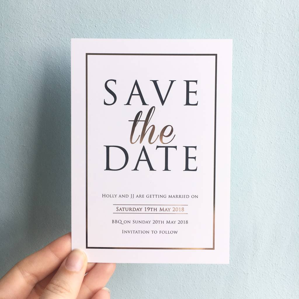 Modern Gold Save The Dates By Rodo Creative