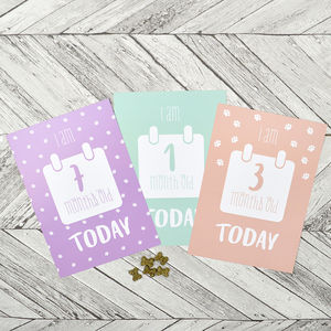 Milestone Puppy Cards - cards & invitations