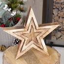 Personalised Set Of Three Nesting Star Ornaments