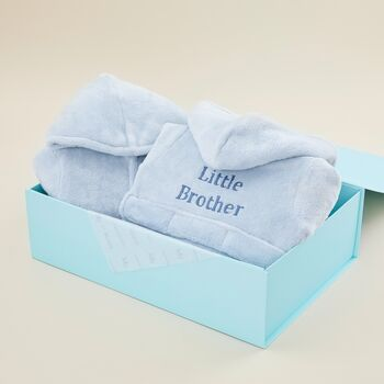 Big And Little Brother Blue Dressing Gown Set