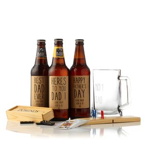 Personalised Ale And Pub Games Gift Box - beer & cider