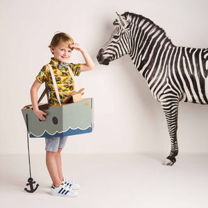 Imagination Cardboard Boat Costume - fancy dress