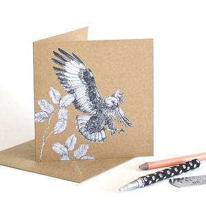 Jackal Buzzard Recycled Greetings Card