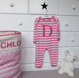Girls Personalised Stripe Rompasuit