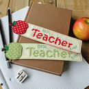 Personalised Apple Teachers Gift Bookmark