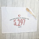 Personalised Cotton Tea Towel Days Quote