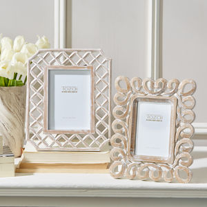 Hand Carved Fretwork Wood Picture Frame