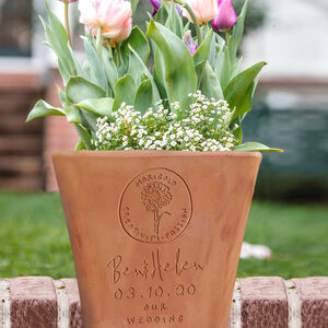 Personalised Wedding Or Anniversary Flower Pot