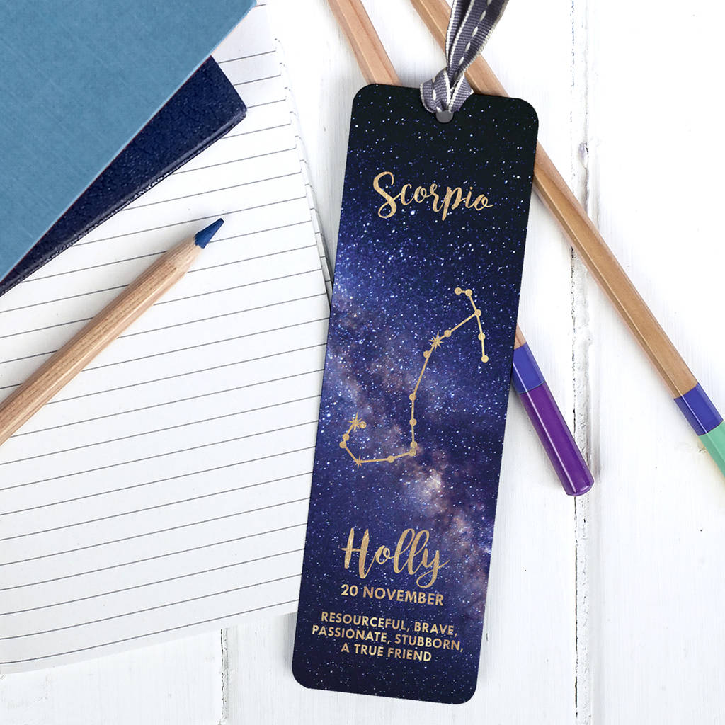 Personalised Zodiac Bookmark by The Little Picture Company