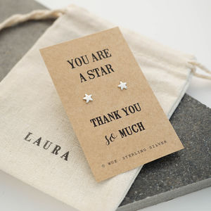 Thank You Star Earrings - gifts for teachers
