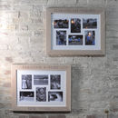 Personalised Whitewash Oak Collage Photo Frame
