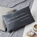 Personalised Our Story Anniversary Cushion