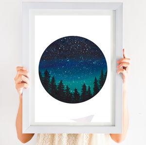 Starry Night Circular Print