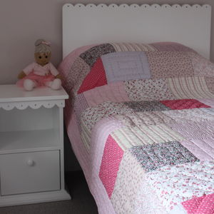 Patchwork Quilted Throw - bedroom