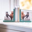 Personalised Cat Wooden Bookends