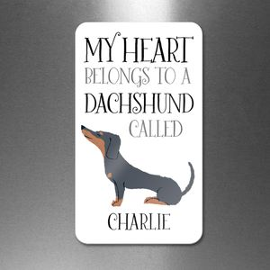 Personalised My Heart Belongs To A Dachshund Magnet