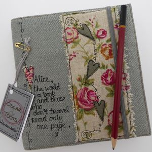 Personalised Linen Journal/Sketchbook