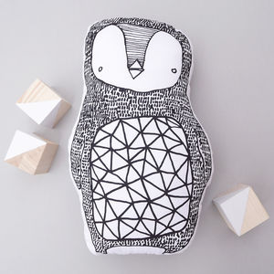 Penguin Animal Cushion Tea Towel Cut Out And Sew - creative kits & experiences