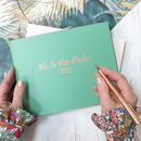 Botanical Leather Wedding Guest Book