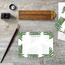 Woodland Fern Set Of Six Thank You Cards