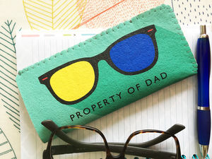 Property Of Dad Glasses Case