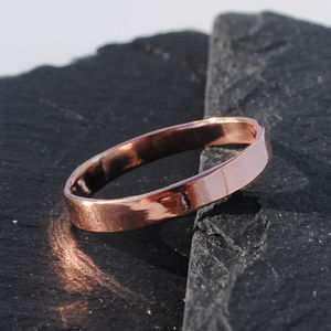 9ct Rose Gold Flat Wedding Band - view all fine jewellery