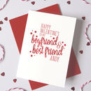 Personalised Best Friend Valentine's Day Card