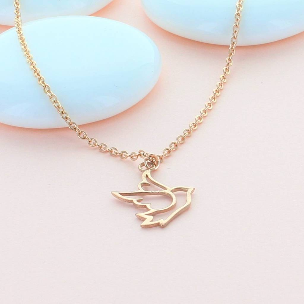 Dove Rose Gold Necklace