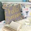 Hello Sunshine Embroidered Cushion