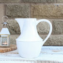 Beaded White Ceramic Jug