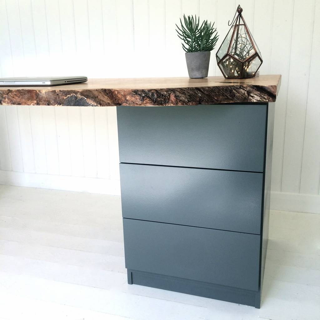 Industrial Desk With Drawers Shapeyourminds Com