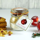 Christmas White Chocolate And Cranberry Cookie Mix Jar
