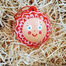 Hand Painted Christmas Character Bauble, Red Design