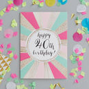 40th Birthday Foiled Greetings Card