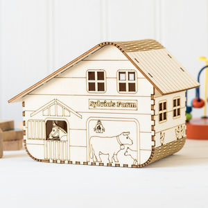 Farm : Personalised Solar Nightlight - children's lighting