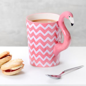 Chevron Tropical Flamingo Mug - gifts for teenagers