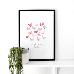 Cat Illustrative Art Print
